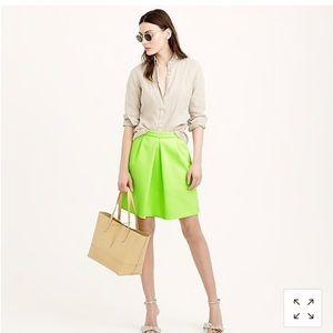 J crew Pleat front mini skirt